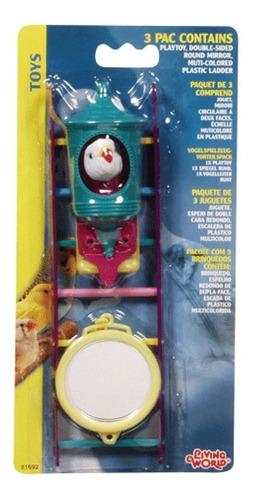 juguete para ave cotorro espejo escales