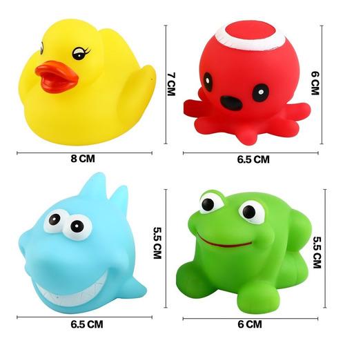 juguete para baño, puede luz intermitente de colores (paq