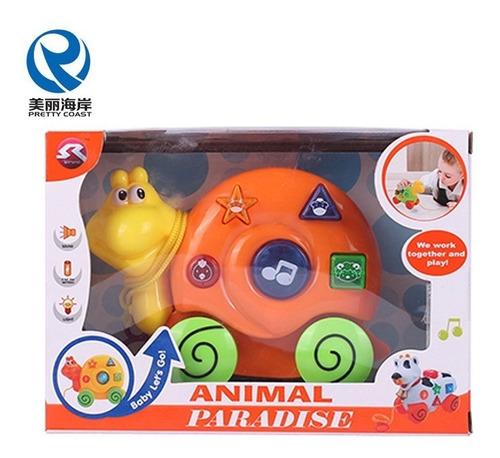 juguete para bebé caracol de arrastre con luz y sonidos