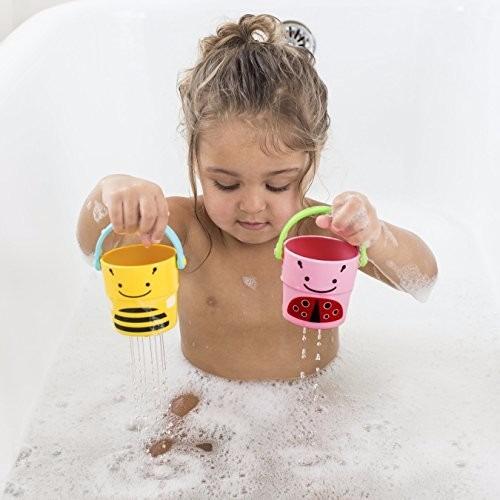 juguete para bebé de baño skip hop 5 baldes línea zoo