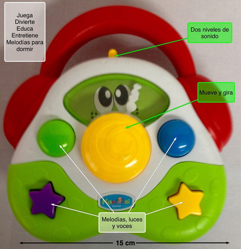 Juguete para bebe forma de radio para 6 meses sonidos en mercado libre - Juguetes para bebes de 2 meses ...