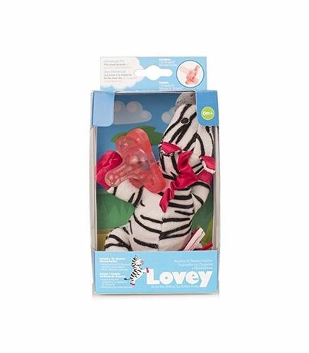 juguete para bebe peluche chupo lovey cebra