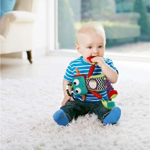 juguete para bebé sonajero colgante mordedor robot