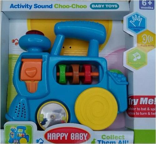 juguete para bebe tren musical, carrito, sonajero. tienda