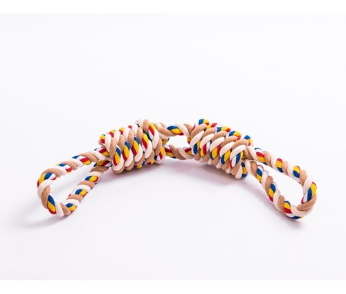 juguete para perro cuerda 2 nudos gigantes super resistente