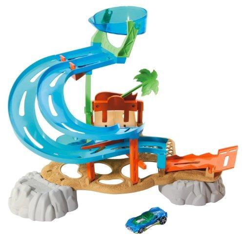 juguete parque acuático coches mattel azul