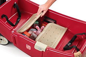 juguete paso 2 todo alrededor del pabellón del carro, rojo