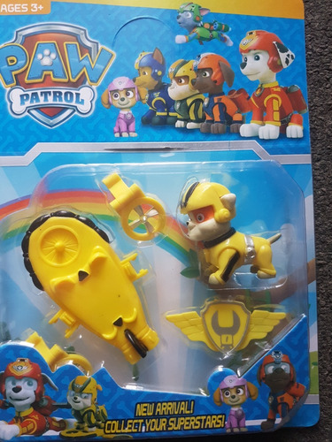 juguete paw patrol patrulla chase marshal rocky muñeco niño