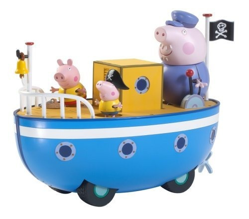 juguete peppa pig en barco del abuelo push-n-go