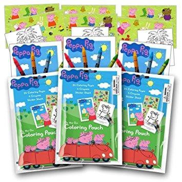 juguete peppa pig party pack para colorear de los favores c
