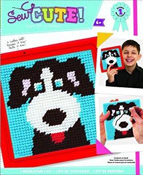 juguete perro colorbok aprender a coser encaje de aguja kit