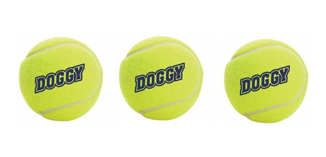 Juguete Perro Set De 3 Pelotas Textura Tennis 6cm Sdr-101a