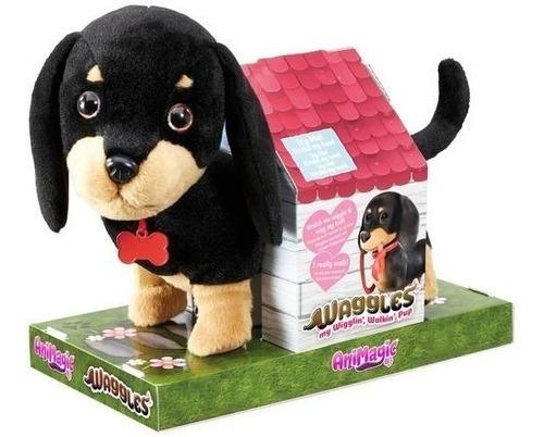 juguete perro shine vivid waggles camina mueve la cola