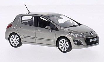 juguete peugeot 308, de color gris metálico de 2011, el mod