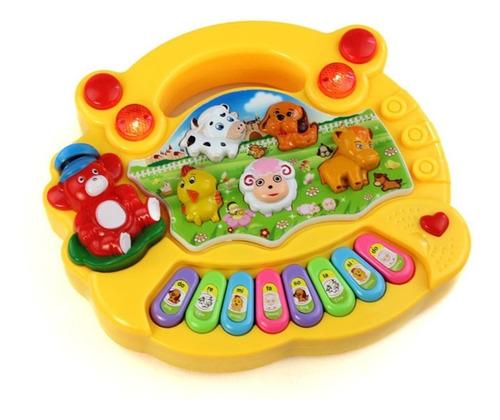 juguete piano sonido musical granja didáctico bebes ajd