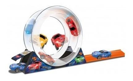 juguete pista autos autitos loop 16 piezas babymovil 8200