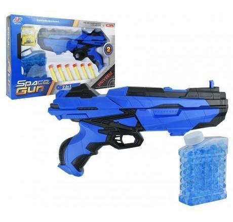 juguete pistola 2 en 1 28 cm balines gel dardos