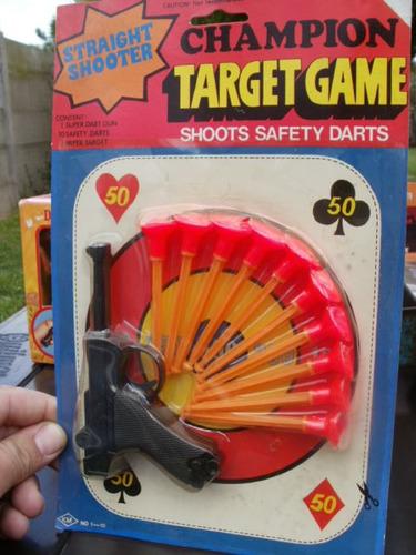 juguete pistola luger años 80 nueva