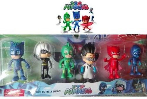 juguete pj masks set de 6 muñecos pijamas pjmask catboy