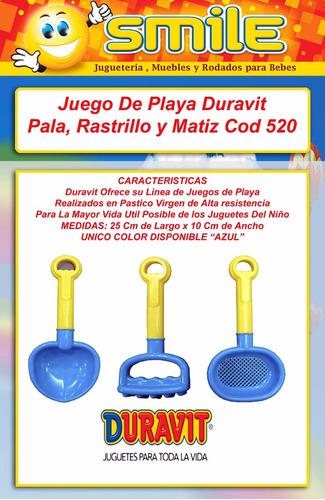 juguete playa pala rastrillo colador azul duravit 520 smile