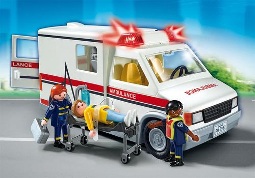juguete playmobil 5681 ambulancia urgencia con luz y sonido