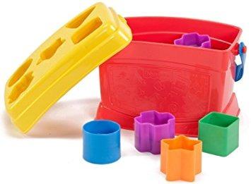juguete primeros bloques y pila de la roca paquete de fishe