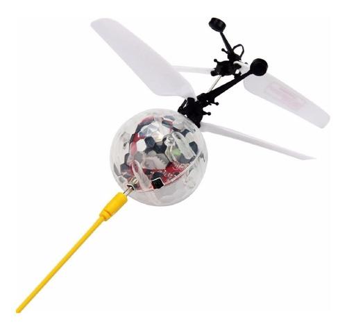 juguete radio control infrarrojo  balón que vuela luz led