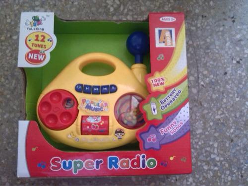 juguete radio musical para bebe.