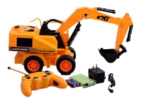 juguete retroexcavadora  control remoto luces y movimientos