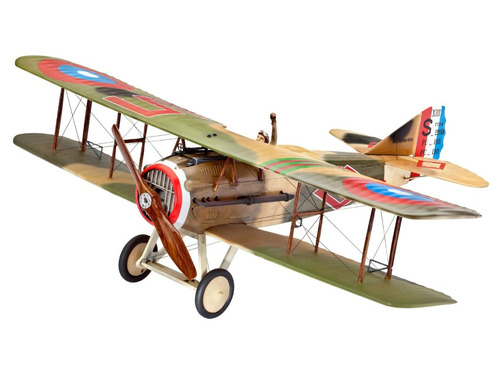 juguete revell avion coleccionable  spad xiii.c1 - marrón