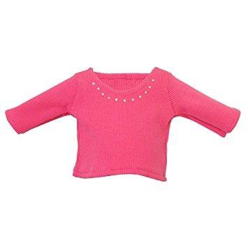 juguete ropa de la muñeca - 2 piezas camisa de la muñeca ro