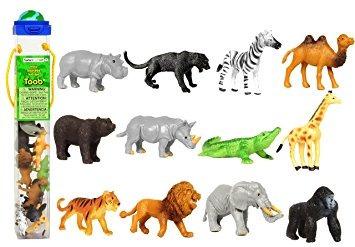 juguete safari ltd toob salvaje con 12 grandes amigos de la