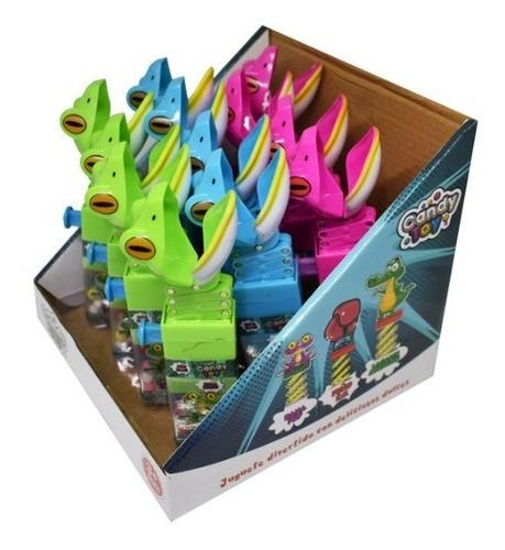 juguete sapo mordelon con dulces display x12 unidades