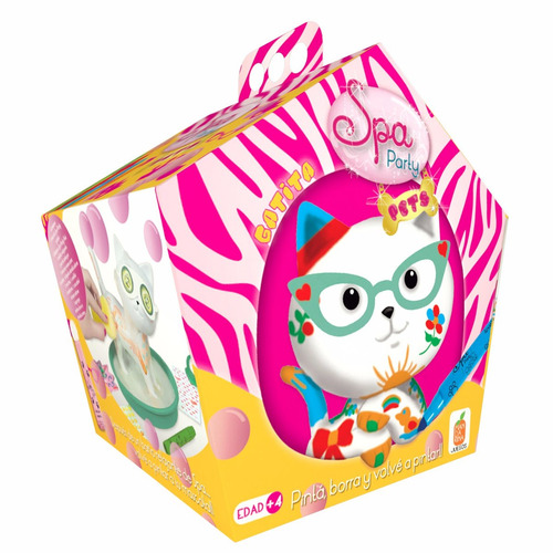 juguete spa party pets gatito mandarina lic. oficial tv