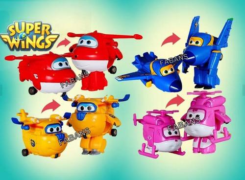 juguete super wings transformable avion plane + luz + sonido