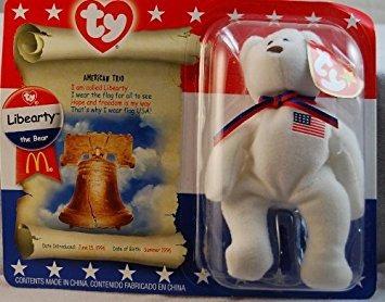 juguete teenie beanie ty mcdonald - libearty el oso (2000)