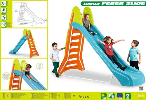 juguete tobogán mega feber slide con agua verano