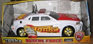 juguete tonka jefe de bomberos coche de rescate luces y son
