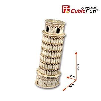 juguete torre inclinada de pisa rompecabezas de diseño 3d