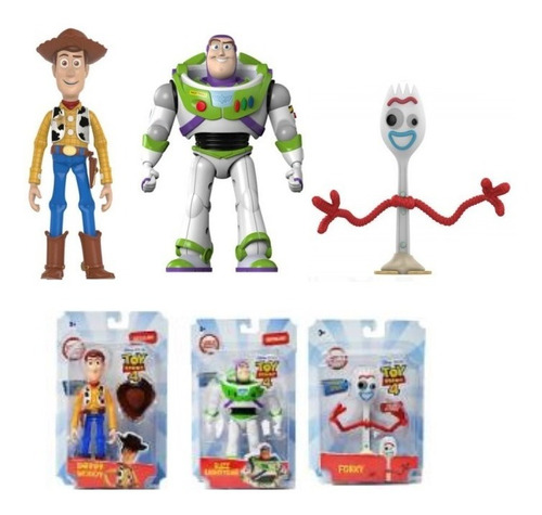 juguete toy story woody buzz forky disney 13cm babymovil