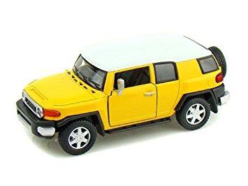 juguete toyota fj cruiser 1/36 amarillo