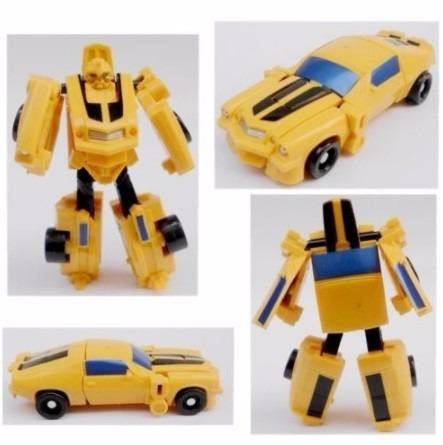 how to make a paper transformer bumblebee step by step