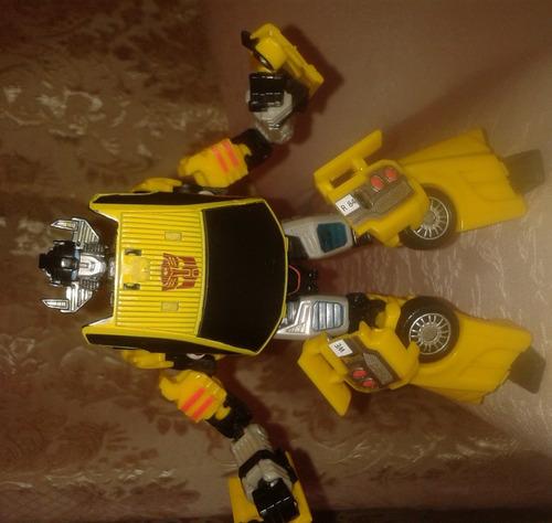 juguete transformers set de tres figuras articulables