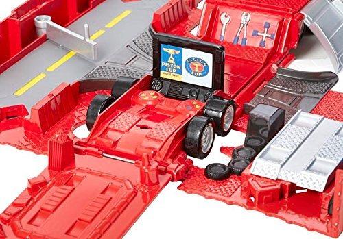 juguete transportador de carros mattel rojo