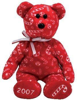 juguete ty beanie babies bastones de caramelo - oso rojo (s