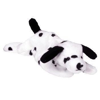 juguete ty beanie babies / bebé - manchado dálmata del perr