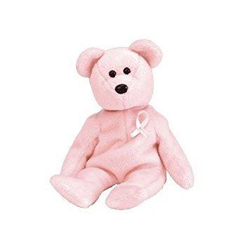 juguete ty beanie babies - cure oso de cáncer de mama