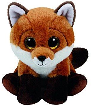 juguete ty beanie babies fay - marrón fox