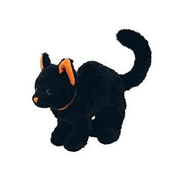 juguete ty beanie babies - gato de scaredy 2.0 negro