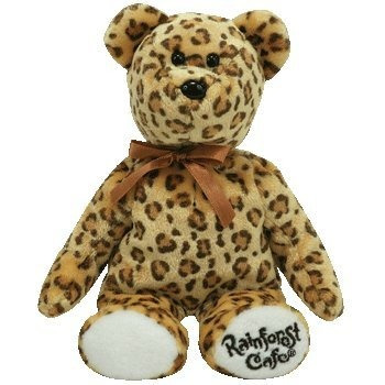 juguete ty beanie babies leopold - bear (rainforest cafe ex